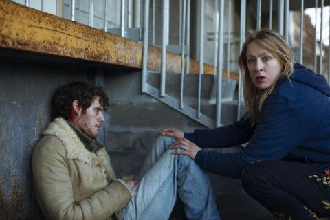 Katinka Lærke Petersen as Ginger (right) in a scene from When the Dust Settles