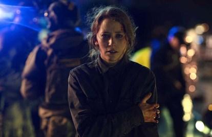 Filippa Suenson as Louise Petersen in a scene from When the Dust Settles