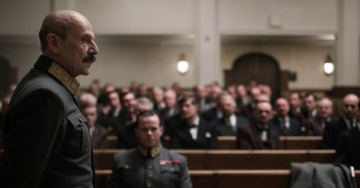 Jesper Christensen as H.R.H. King Haakon Vll (Foreground) in The King's Choice