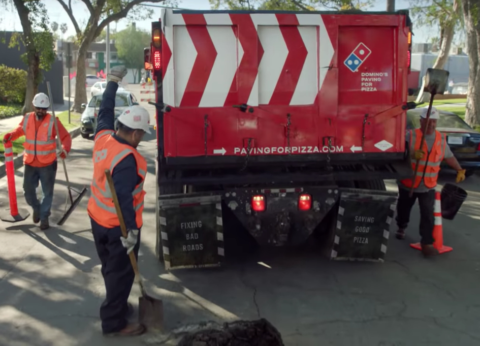 Domino's paves streets to make safer for pizza delivery