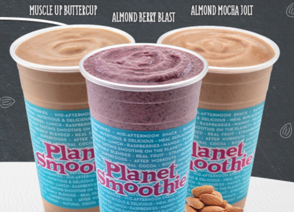 Planet Smoothie goes nuts w/ Almond Butter Smoothies