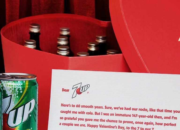 Seagram's 7 Crown slides into 7UP's DMs