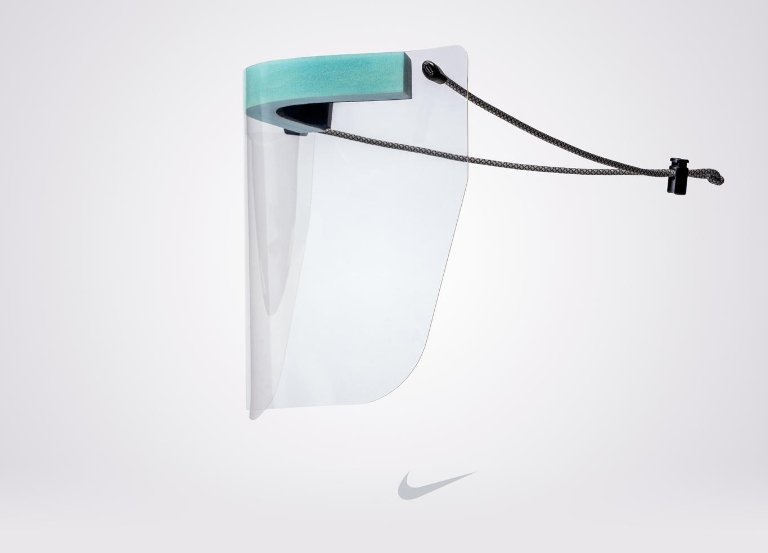 Nike transforms air soles into PPE full-face shields