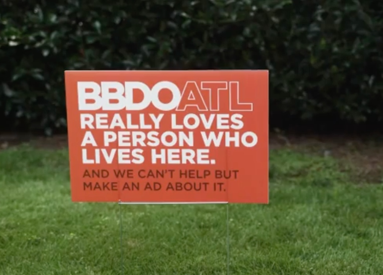 BBDO Atlanta really loves someone that lives here