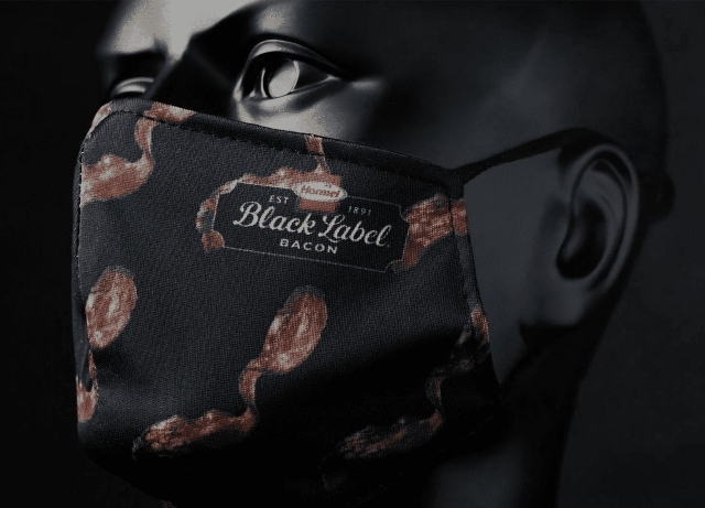 Hormel, BBDO launch Black label bacon-scented mask