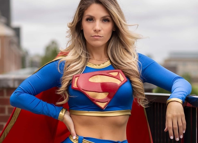 Her costumes fly – Meet Supergirl Laney Feni