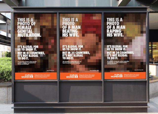 'Censored' OOH expose Gender-Based Violence