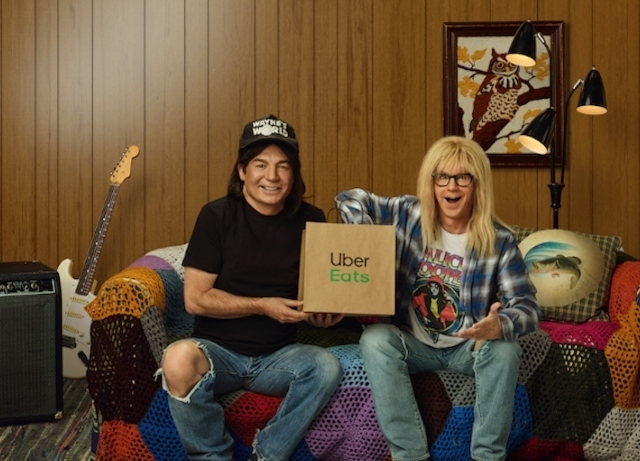 Wayne and Garth are back in Uber Eats Super Bowl spot
