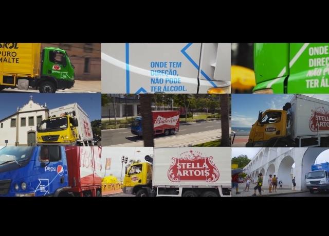 Ambev transforms trucks into DUI campaign