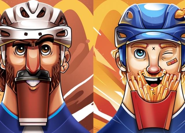 NHL players' wear McDonald's menu items