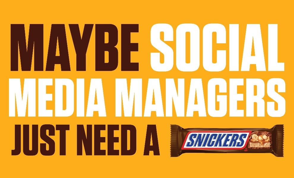 Snickers' hungry social media manager botches Twitter fleets