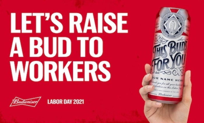 Budweiser reveals Labor Day limited-edition cans from Upwork
