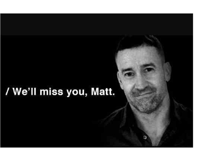 Ad exec, brilliant creative Matt Brennock dies at 52