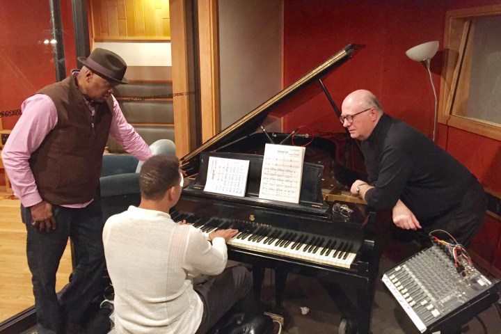 "Terrence Howard records ""Empire"" finale tune at CRC"