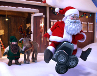 re:think recreates Norelco's iconic Santa's ride spot