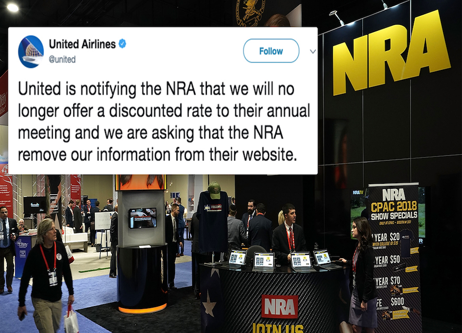 United Airlines ends NRA discount & other news