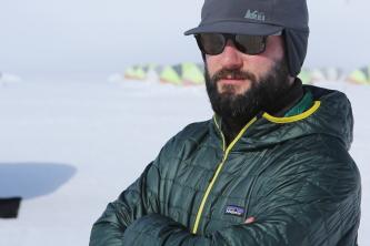 Seth Deahl on location in Antarctica (Photo: Igor Kropotov)