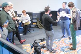 Guests enjoy the second floor production studio