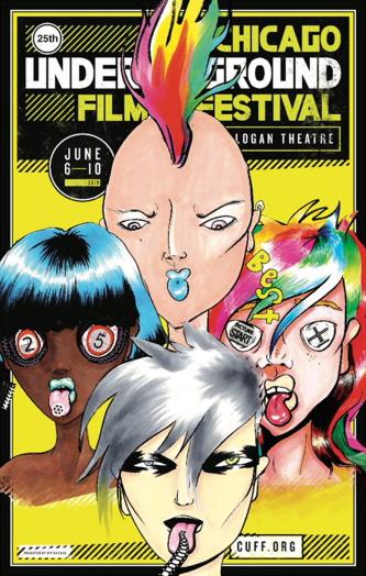 The 25th Chicago Underground Film Festival poster (art: Amy Davis: design: Dan Streeting)