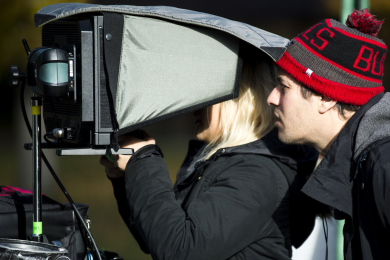 Director Aaron Wertheimer on Set