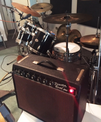 "The amp and drum kit heard on ""Chicago Bleeds Blues"""