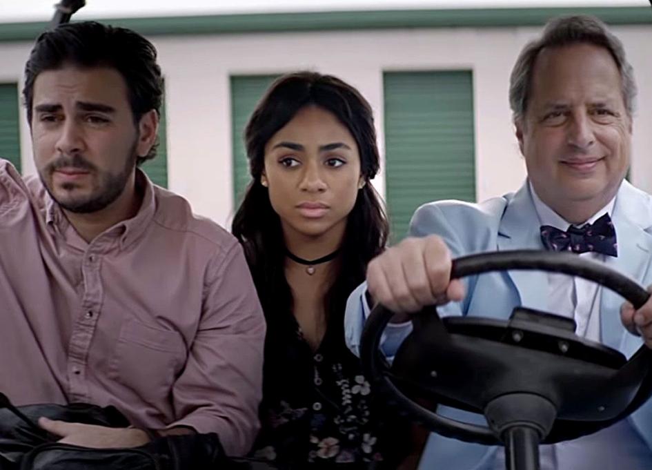 """Grant Rosenmeyer, Jon Lovitz, and Chelsea Tavares in """"Chasing The Blues"""""""