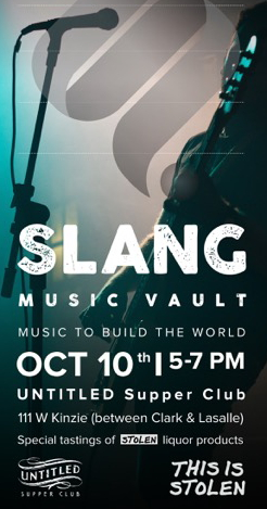 "Slang will host a ""sharing event"" at Untitled on October 10"