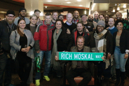 Moskal surrounded by well-wishers at AMC