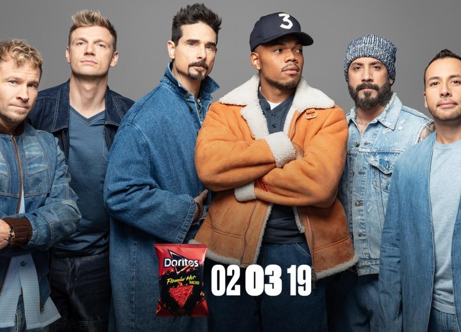 Chance and Backstreet Boys drop hot Doritos spot