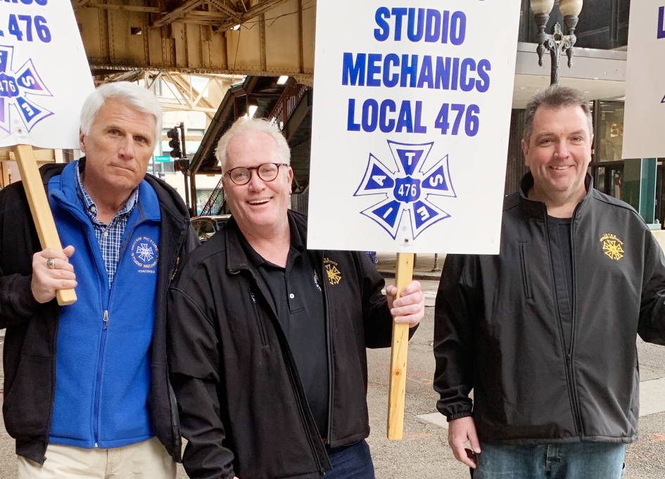 Local 476 recording secretary Dick Oakes, President Bradley Matthys, and Vice President Joe Connelly