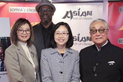 Sophia Wong Boccio, Kwame Amoaku, 'Attorney' producer, and Kenneth Tsang Kong