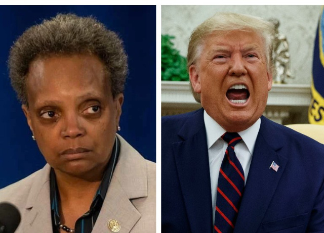 "Mayor Lightfoot has two words for Trump – ""F U"""