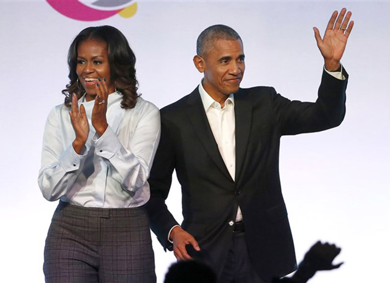Barack to be first guest on 'The Michelle Obama Podcast'
