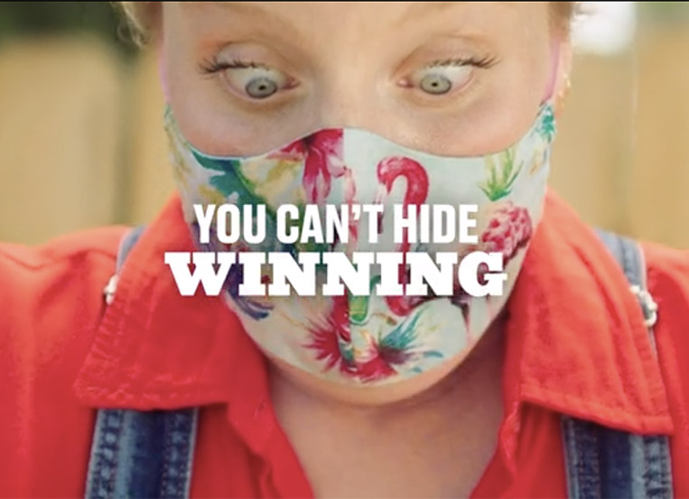"OKRP Lottery campaign shows ""You Can't Hide Winning"""
