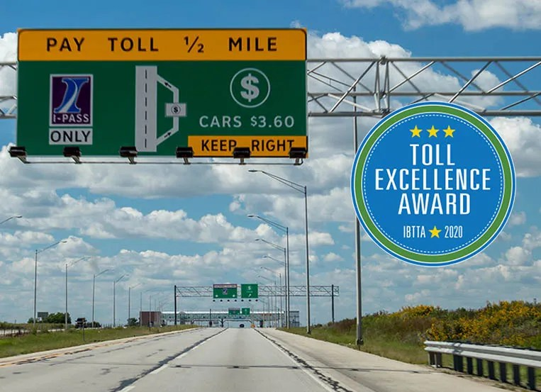 Illinois Tollway selected for 2020 Toll Excellence Award