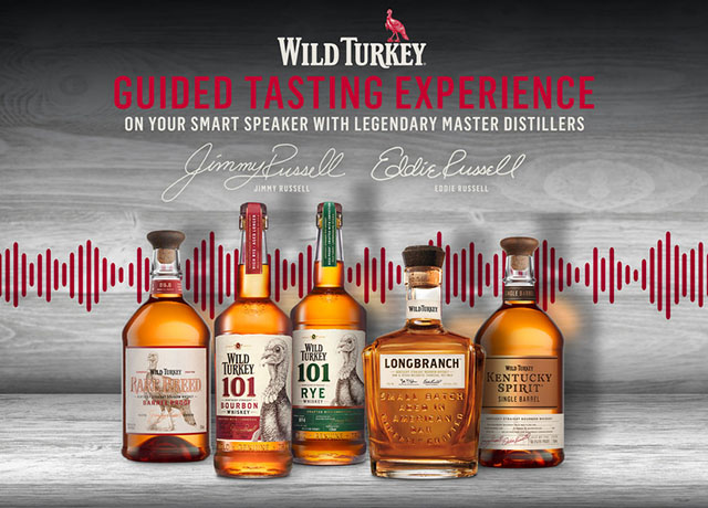 Wild Turkey designs guided tasting for Alexa and Google