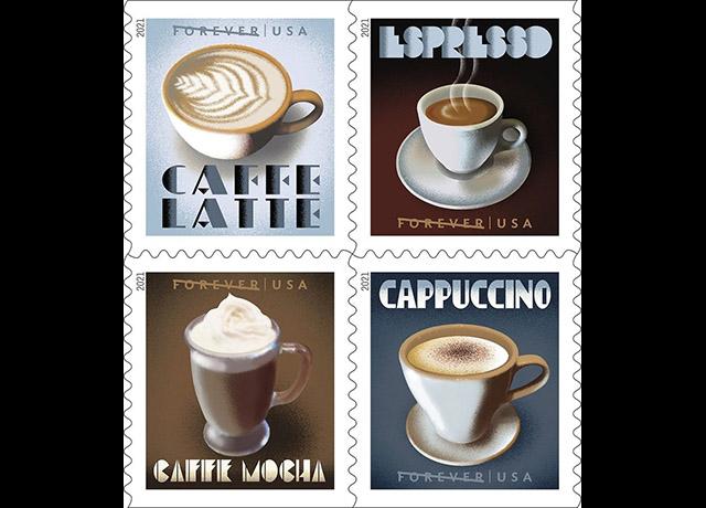 U.S. Postal Service celebrates America's love of coffee