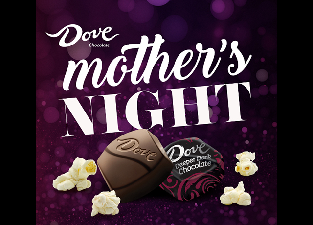 DOVE Chocolate celebrating 'Mother's Night' nationwide