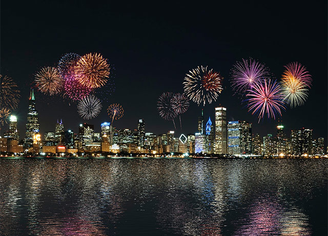 July 3rd fireworks to Celebrate Chicago's Reopening