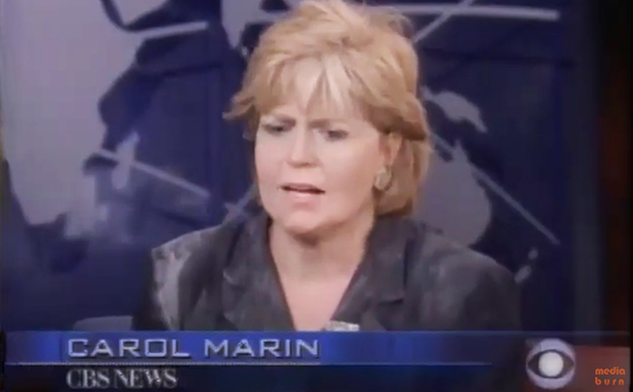 Rare 9/11 footage of Carol Marin at collapse of the towers