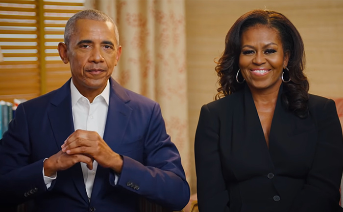 Barack and Michelle here for ground-breaking of Obama Presidential Center