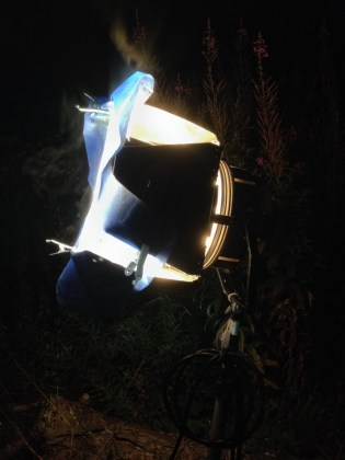 2kw Blonde with CTB gel - Cosmos Night Exterior Field