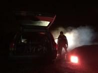 Zander firers up the Smoke Gun - Cosmos Night Exterior Field