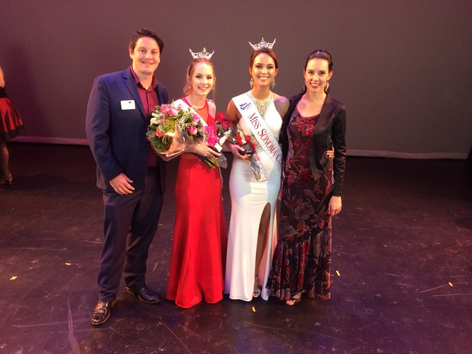 Judging the Miss Sonoma County Competition