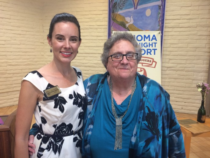 With Kathy King, Executive Director of Sonoma Overnight Support