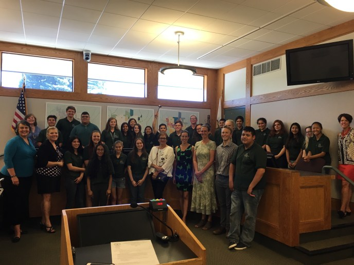 Youth Engagement Seminar mock city council meeting