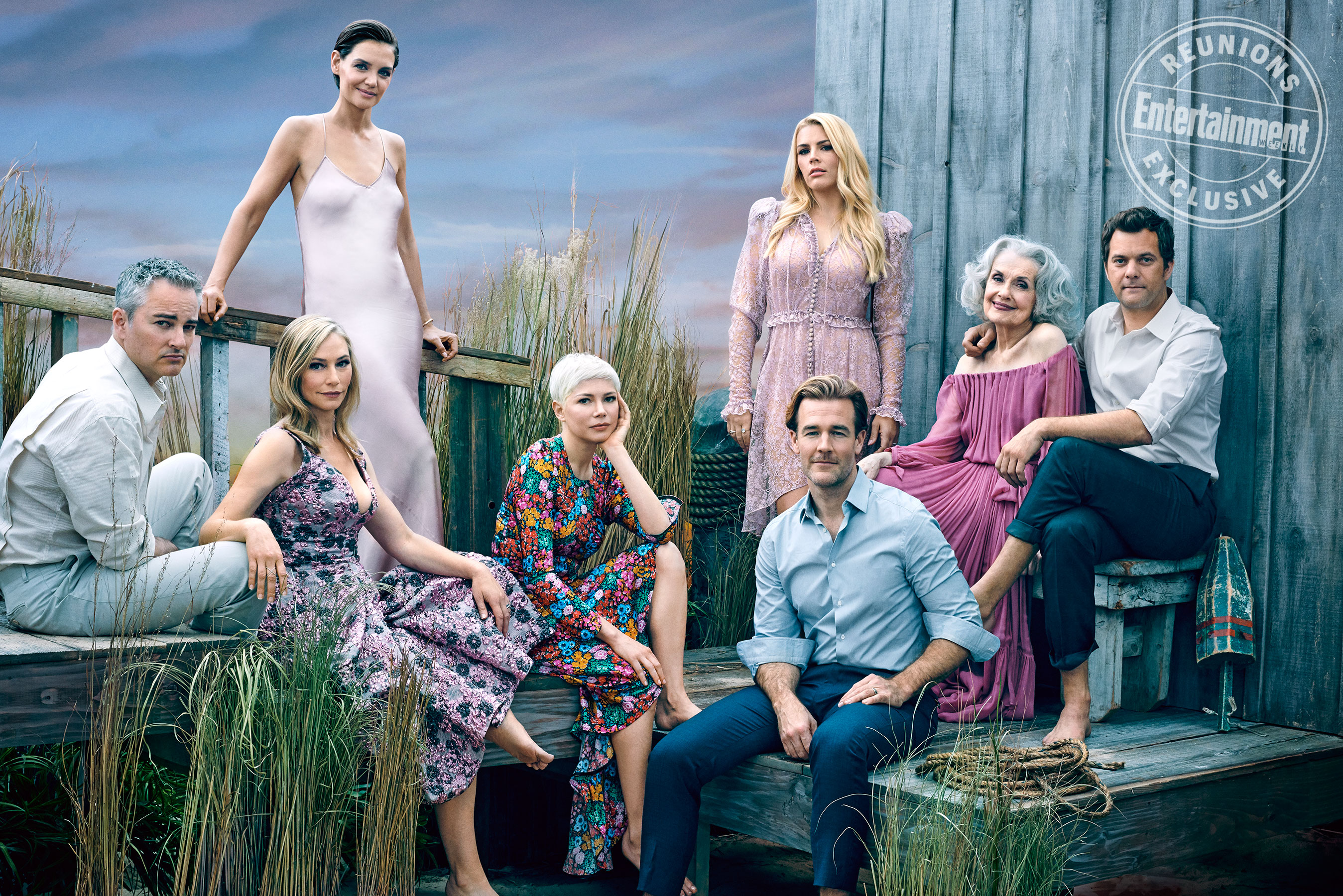 "90s Teen Series ""Dawson's Creek"" cast reunion from Entertainment Weekly."