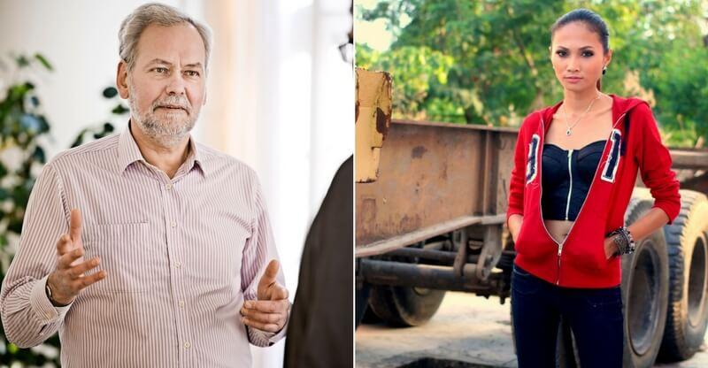 For nogle mænd er fristelsen ved at have en au pair-piger boende for stor, mener formand for FOA, Dennis Kristensen (tv.). 80 procent af au-pair pigerne i Danmark er som kvinden til højre fra Filippinerne. Billede: Pressefoto, FOA/arkivfoto.