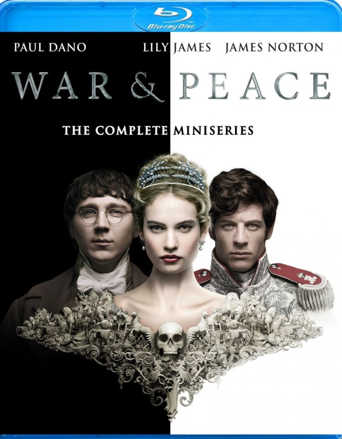 War & Peace blue ray box art