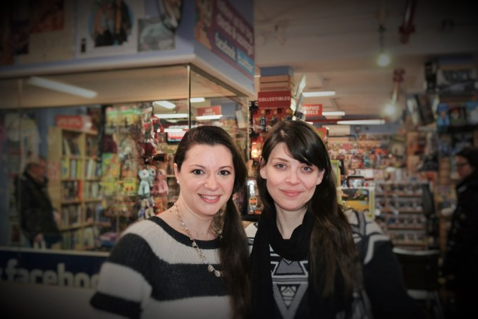 Liz Whittemore and Amber Benson